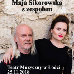 Andrzej Sikorowski i Maja Sikorowska z zespołem. Koncert w Teatrze Muzycznym w Łodzi